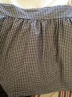 STEPHANIE ANNE FRENCH  COUNTRY BLACK & WHITE CHECKED King  BEDSKIRT DUST RUFFLE