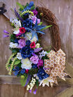 SPRING~Mother's Day~EASTER Silk FLORAL OVAL Wreath~Grapevine SUMMER Door Decor