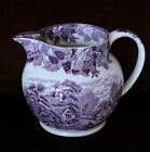 VTG ENOCH WOODS & SON PURPLE ENGLISH SCENERY TRANSFERWARE JUICE PITCHER STUNNING