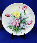 decorative porcelain handpainted signed ucagco made in japan tulips pink yellow