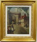 ELISEE MACLET (1881-1962) FRENCH OIL PAINTING EARLY 2x SIDED STREET SCENE FLORAL