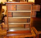 Unusual counter top country store display case-sliding side drawers---15059