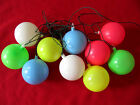 VINTAGE RETRO Blow Mold BIRTHDAY BALLOONS String Lights RV Camping Party Patio