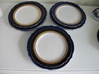 Lomonosov Cobalt porcelain 6 salad / 3 bread plates. Set of 9 plates total.