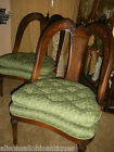 Antique French Chairs Cane Back inlaid Walnut Pair Heart
