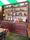 Antique original country primitive two piece general 'built in' store cupboard