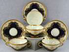 #3 ESTATE DINNERWARE 4 SETS BLACK KNIGHT HOHENBERG BOUILLON CUPS REGINA COBALT