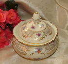 Schumann Bavaria Empress Dresden Flowers Covered Dish Germany US Zone