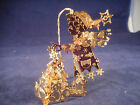 danbury mint christmas ornaments 23k gold BOY WITH TREE AND SQUIRREL