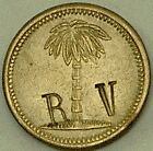 Costa Rica Rohrmoser Hermanos, Palm with R V Counterstamp (Rio Virilla) Token