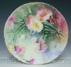 LOVELY LIMOGES FRANCE HAND PAINTED CARNATIONS PLATE ARTIST WELLS