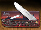 STEEL WARRIOR Jigged Red Walnut Bone Sodbuster 1/600 Stainless Pocket Knife