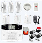 Flash Siren GSM Burglar Alarm Wireless  System  + Panic button + Smoke Detector