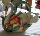 FITZ & FLOYD TULIP SWAN TEAPOT WITH LID ~1995 RETIRED~  - EXCELLENT COND