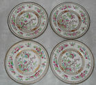 Set of Four Royal Doulton Burslem Dresden Indian Tree Bread Butter Plates