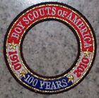 BSA Boy Scouts 1910 - 2010 100 Year Anniversary World Crest Ring Patch Scouting