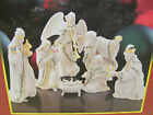 LENOX HOLIDAY MINIATURE NATIVITY 7 PIECE SET Ivory China Gold Accents New in Box