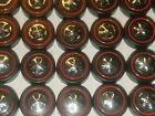 Hot Wheels Redline Red Line WHEEL TIRE Lot of 48 LARGE Cap Style NICE