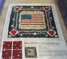 Daisy Kingdom Let Freedom ring cheater quilt panel