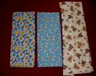 Lot of 4 Yards Cotton Flannel Baby Elmo,Baby,Dalmatians,Teddy Bear Printed