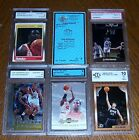 5 Different NBA Basketball Cards Graded