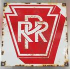 PRR PENNSYLVANIA RAILROAD PORCELAIN SIGN RR TRAIN STATION RAIL CAR ROAD KEYSTONE
