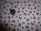 Cotton Fabric Joan Kessler Concord Calico  Red Heart Floral on White  2 YD 30