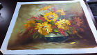 Oil Painting On  Canvas Subject Floral Signed  Robert Cox  Unframed