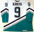 PAUL KARIYA ANAHEIM MIGHTY DUCKS ROOKIE CCM ULTRAFIL AUTHENTIC JERSEY NEW 52