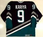 PAUL KARIYA ANAHEIM MIGHTY DUCKS 1994 ROOKIE CCM ULTRAFIL AUTHENTIC JERSEY 48