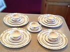 Vintage~Copeland Spode England Buttercup China~38 pc set~Tea Cups/Saucers/Plates
