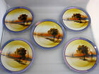 Salad Plate Chikaramachi Hand Painted Lusterware Lustreware Japan Lot of 5