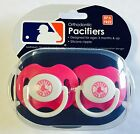 Boston Red Sox PINK Baby Infant Pacifiers NEW 2 Pack SHOWER GIFT girls