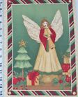 Angel Fabric Christmas Horn Music Tree Holly 925 x 14 quilt block square