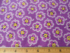 1930s Reproduction Fabric 1 Yd Feedsack Circa 1930 Purple Floral 100% Cotton