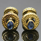 Authentic 1960s VAN CLEEF & ARPELS Cabochon Sapphire 18k Yellow Gold Cufflinks