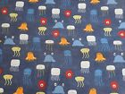 Sea Breeze Creatures Fish Octopus 90355 Crafting Quilters Cotton Fabric 1/2Yard