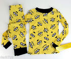 Despicable Me 2 *Faces* Pajama Set L/S Top Pants Yellow/Black Sz 6
