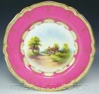 ROYAL WORCESTER HAND PAINTED SCENIC CABINET PLATE ARTIST SIGNED
