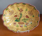 Breininger Vintage 1998 Redware Pottery Sgraffito Decorated Plate Dish Birds