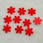 100Pcs Padded Felt Spring Flower Craft Appliques Craft Wedding Decoration H052