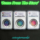 2012 2013 2014 Australia Southern Sky Proof Colored Silver Domed Coins NGC PF70!
