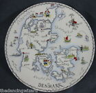 Denmark Danish Map Decorative Plate Tuscan Bone China Difa