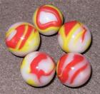 Champion - 5 New Old Fashion Marbles - Conditions & Size Vary -   061114-1  VW