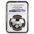 2011 P Proof 1 Silver Medal of Honor NGC PF69 Early Releases