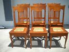 Dining room chairs...high back cane seat oak 1900-1950