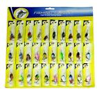HOTLot 30pcs Trout Spoon Metal Fishing Lures Spinner Baits Bass Tackle Colorful