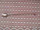Vintage/antique small silver plated spoon with twisted handle &stone on the top
