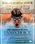 MICHAEL PHELPS SIGNED 16x20 PHOTO JSA COA AUTOGRAPH AUTO SPORTS ILLUSTRATED GOLD