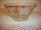 VINTAGE SMALL BOWL SIGNED HELEN LUGER DIP NUTS CANDY CLEAR FROSTED GOLD ACCENTS